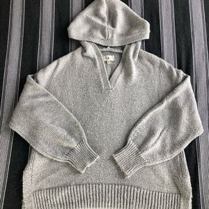 Lou & Grey gray sparkly hooded sweatshirt